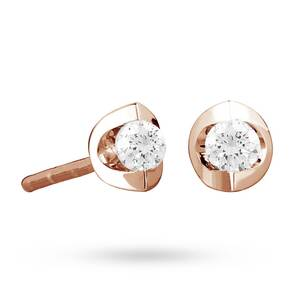 9ct Rose Gold 0.10ct Tension Set Diamond Earrings