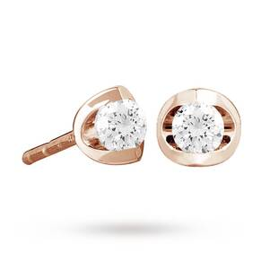 18ct Rose Gold 0.50ct Tension Set Diamond Earrings