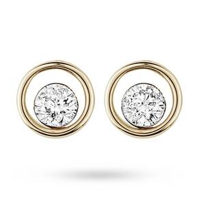 9ct Yellow Gold 0.40ct Floating Diamond Earrings