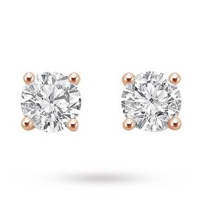 9ct Rose Gold 0.25ct Brilliant Cut Stud Earrings