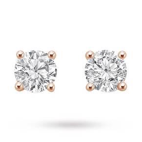 18ct Rose Gold 1.00ct Brilliant Cut Stud Earrings