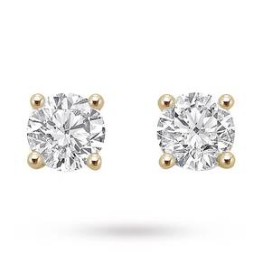 18ct Yellow Gold 1.00ct Brilliant Cut Stud Earrings