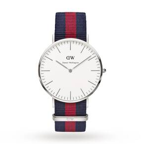 Daniel Wellington Men's Oxford Silver 40mm Watch