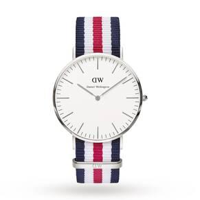 Daniel Wellington Men's Canterbury Silver 40mm Watch