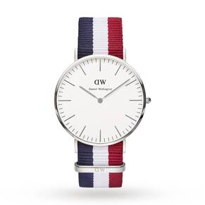 Daniel Wellington Men's Cambridge Silver 40mm Watch