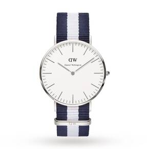 Daniel Wellington Men's Glasgow Silver 40mm Watch