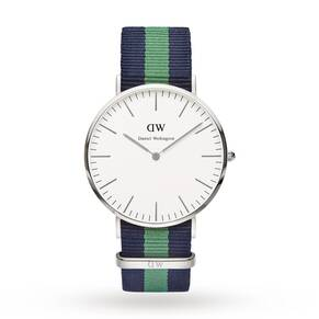 Daniel Wellington Men's Warwick Silver 40mm Watch