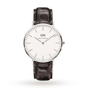 Daniel Wellington Men's York Silver 40mm Watch