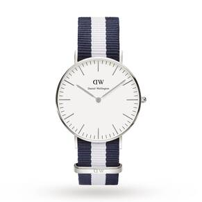 Daniel Wellington Men's Glasgow Silver 36mm Watch