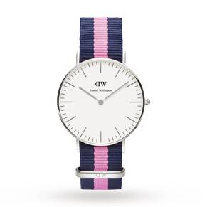 Daniel Wellington Ladies' Winchester Silver 36mm Watch