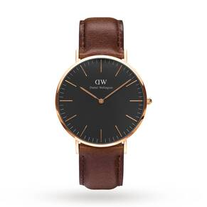 Daniel Wellington Unisex Classic Black Bristol Watch 40mm Watch