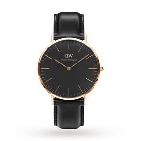 Daniel Wellington Unisex Classic Black Sheffield Watch 40mm Watch