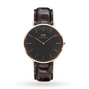 Daniel Wellington Unisex Classic Black York Watch 40mm Watch