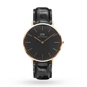 Daniel Wellington Unisex Classic Black Reading Watch 40mm Watch