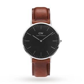 Daniel Wellington Unisex Classic Black St Mawes Watch 40mm Watch