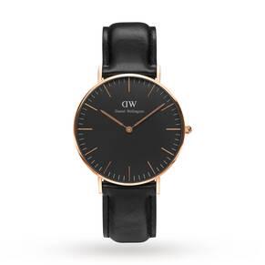 Daniel Wellington Unisex Classic Black Sheffield Watch 36mm Watch
