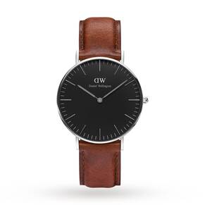Daniel Wellington Unisex Classic Black St Mawes Watch 36mm Watch