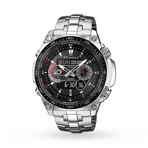 Casio Men's Edifice Waveceptor Alarm Chronograph Radio Co ...