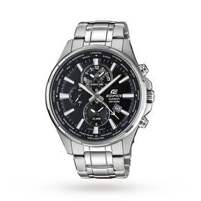 Casio Men's Edifice World Time Chronograph Date Bracelet ...