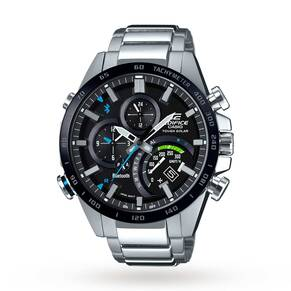 Casio Men's Edifice Bluetooth World Traveller Alarm Chron ...