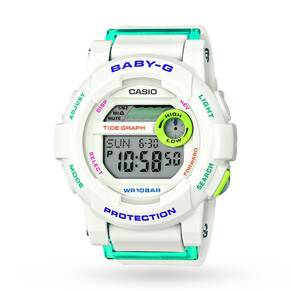 Ladies Casio Baby-G Alarm Chronograph Watch BGD-180FB-7ER