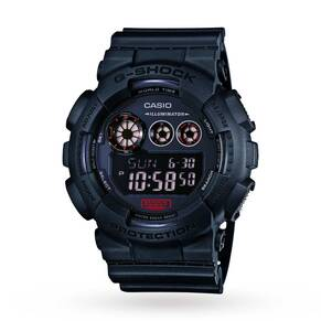 Mens Casio G-Shock Military Black Alarm Chronograph Watch GD-120MB-1ER