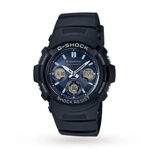 Mens Casio G-SHOCK Alarm Chronograph Watch AWG-M100SB-2AER