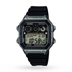 Mens Casio World Time Alarm Chronograph Watch AE-1300WH-8AVEF
