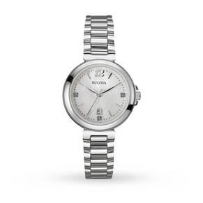 Ladies Bulova Diamond Gallery Watch