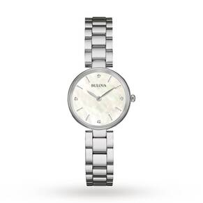 Ladies Bulova Diamond Gallery Watch 96S159