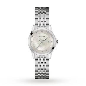 Ladies Bulova Diamond Gallery Watch 96S160