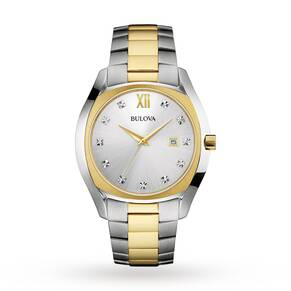Mens Bulova Diamond Watch 98D125