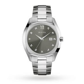 Mens Bulova Diamond Watch 96D122