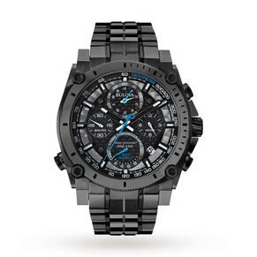 Mens Bulova Precisionist Chronograph Watch 98G229