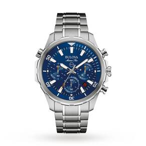 Mens Bulova MARINE STAR Chronograph Watch 96B256