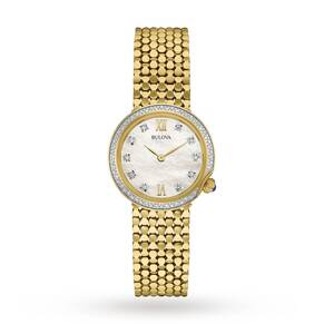 Ladies Bulova Diamond Gallery Diamond Watch 98W218