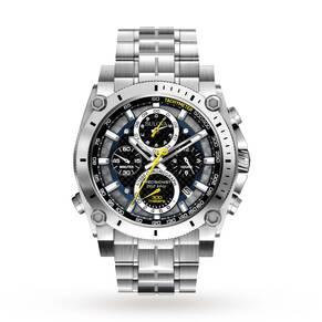 Mens Bulova Precisionist Chronograph Watch 96G175