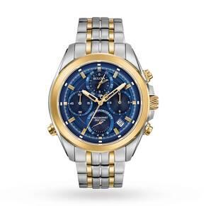 Mens Bulova Precisionist Chrono Chronograph Watch 98B276