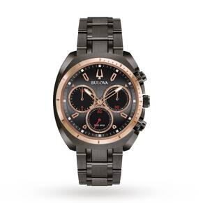 Mens Bulova Sport CURV Chronograph Watch 98A158