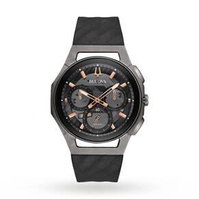 Mens Bulova Progressive CURV Titanium Chronograph Watch 98A162