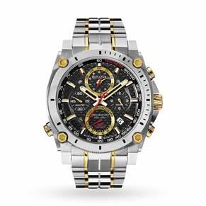Mens Bulova Precisionist Chronograph Watch 98G228
