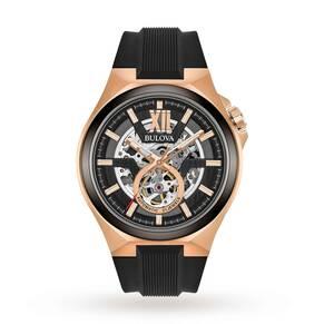 Mens Bulova Automatic Automatic Watch 98A177