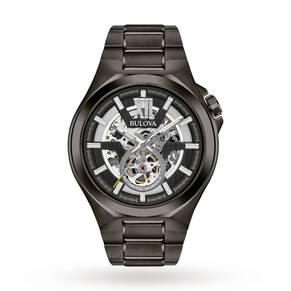 Mens Bulova Automatic Watch 98A179