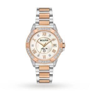 Ladies Bulova Marine Star Diamond Watch 98R234
