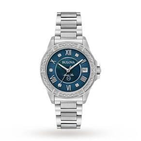 Ladies Bulova Marine Star Diamond Watch 96R215