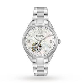 Ladies Bulova Automatic Diamond Watch 96P181