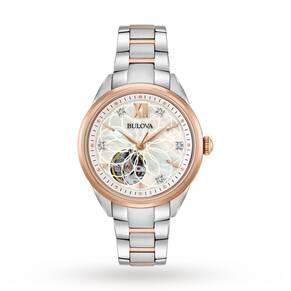 Ladies Bulova Automatic Diamond Watch 98P170