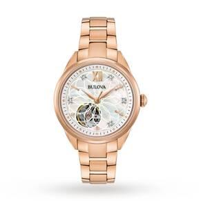 Ladies Bulova Automatic Diamond Watch 97P121