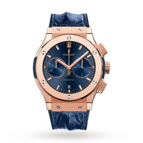 Hublot Classic Fusion Blue Chronograph Mens Watch