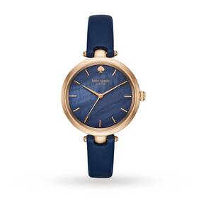 Kate Spade New York Ladies Holland Blue Leather Strap Watch KSW1157